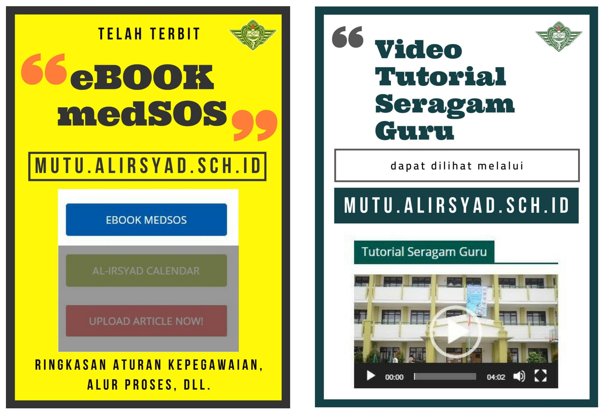 eBook medSOS dan Video Tutorial Seragam Guru